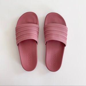 Adidas Adilette - size 8 - mauve/maroon